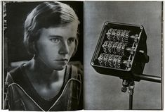 Spread from Fabrik, a photobook by Jak Tuggener, published by Rotapfel-Verlag, Switzerland, 1943. Source: actung-photography. See the Exposure column at Design Observer. http://designobserver.com/feature/exposure-pages-from-fabrik-by-jak-tuggener/38880/