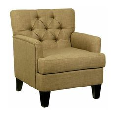 Have to have it. Abbyson Living Freemain Tufted Fabric Club Chair - Taupe $489