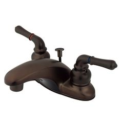 "Kingston Oil Rubbed Bronze Magellan 4"" 2 handle centerset bathroom faucet KB625"