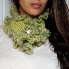 ruffle scarf crochet pattern | Crochet Ruffled Scarf PDF PATTERN by PatternsbyMarianneS on Etsy, $3 ...