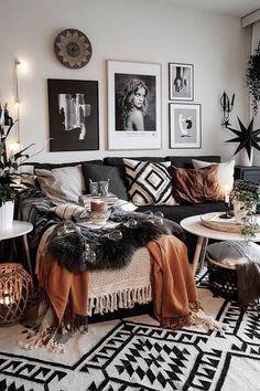 Brown Living Room, Trendy Living Rooms, Living Decor, Small Apartment Living Room, Room Design, Living Room Decor Cozy, Boho Living Room, Room Inspiration, Apartment Decor