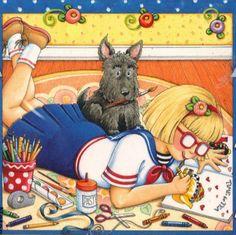 sailor girl, scottie dog