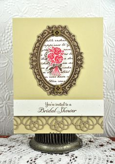 bridal shower invite using both Simply Jane and my new Happily Ever After stamp set