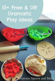 Sharing 15+ Ideas for your Dramatic Play Space that are FREE or your can make yourself!
