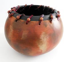 Hey, I found this really awesome Etsy listing at https://www.etsy.com/listing/187260961/earth-tones-painted-gourd-art-bowl-with