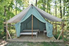 Platform tents are great! http://campingtentlover.com/comfortable-ways-to-sleep-in-a-tent/