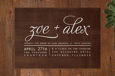 Chocolate Matrimony Wedding Invitations by Jamie L... | Minted