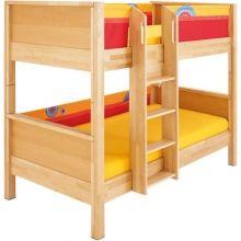 Detská poschodová posteľ Matti červená - Detské postele - Detská izba - Hračky a Detský nábytok- Detský Sen - Maxus