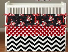 Minnie Mouse theme inspired Crib Bedding *more choices*