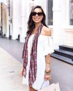 Pin for Later: Darum solltet ihr einen Schal auch im Sommer tragen Lässig hängend