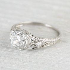 Pretty and elegant diamond ring www.ScarlettAvery.com