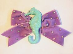 Magical Seahorse Velvet Hair Bow Lolita Party by CutieDynamite, $23.00