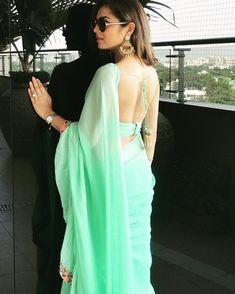 drashti dhami backless, drashti dhami in half saree, hindi serial actress% Indian Dresses, Indian Outfits, Indian Attire, Saree Dress, Sari, Lehenga Choli, Sexy Bluse, Saree Backless, Drashti Dhami