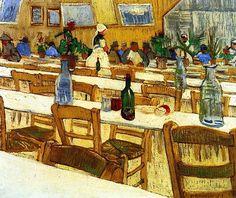 Interior of a Restaurant / Vincent van Gogh - 1887