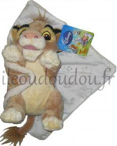 Doudou peluche Simba Roi Lion dans sa couverture Disney Baby, Nicotoy, Simba Toys (Dickie)