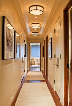 Lighten a narrow hallway