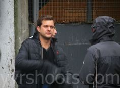 Fringe Team Avoids Checkpoint. Josh between takes