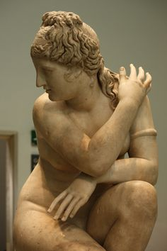 Artist Unknown, Aphrodite Startled, 2nd c. BC -- Greek, a classic Hellenistic sculpture, this statue is sometimes known as 'Lely's Venus' since it once belonged to the baroque portrait painter Sir Peter Lely (1618-80). It was subsequently acquired by King Charles I (reigned 1625-49).