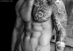 Hot Tattoos sexy photography tattoos body hot guy blackandwhite fit man muscles physical