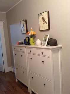 ikea hemnes shoe cabinet hack diy projects pinterest hemnes ikea hack and long hallway. Black Bedroom Furniture Sets. Home Design Ideas