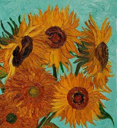 malinconie:  Vincent Van Gogh, Sunflowers, detail