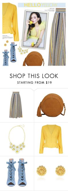 """Get Happy: Pops of Yellow"" by beautifulplace on Polyvore featuring Jérôme Dreyfuss, Eye Candy and Olivia Burton"