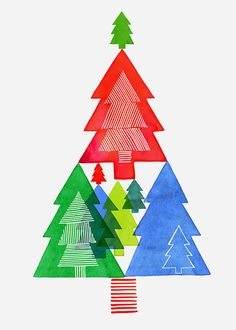 Margaret Berg Art: Tree+of+Trees+Card