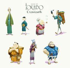 Tokaido crossroad by naiiade.deviantart.com on @deviantART