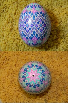 Pastel Colored Ukrainian Egg - Psyanky