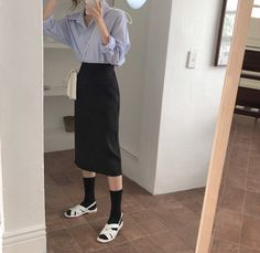 Korean Outfits, Daily Look, Daily Fashion, Summer Outfits, Normcore, Seasons, Pants, How To Wear, Closet