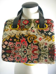 1960's Tapestry Carpet Bag Purse
