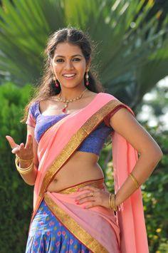 Beautiful Gouthami Chowdary Latest Hot Half Saree Stills