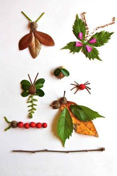 Create art from things collected on a nature hike.