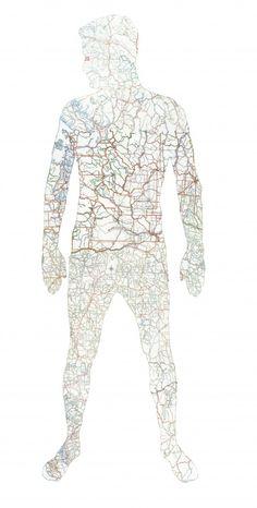 Man map art