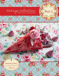 Vintage Valentine by Bari J. Fabric Cone #gifts