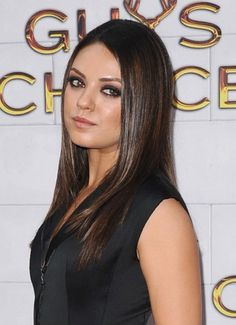Mila Kunis straight and serious style
