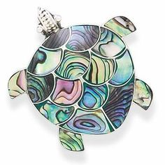 Sterling Silver Paua Shell Turtle Pin/Pendant West Coast Jewelry. $56.95. Save 50% Off!