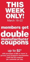 Doubling Coupons is BACK! This week only at Kmart!