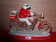 """Coca-Cola Bears Collectibles Price Guide   Coca-Cola Cruisers """"Ridin' with the Real Thing"""" Motorcycle Chopper ..."""