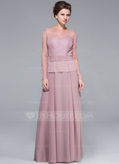 Mother of the Bride Dresses - $226.99 - A-Line/Princess Scoop Neck Floor-Length Chiffon Tulle Mother of the Bride Dress With Beading Sequins (018025673) http://jjshouse.com/A-Line-Princess-Scoop-Neck-Floor-Length-Chiffon-Tulle-Mother-Of-The-Bride-Dress-With-Beading-Sequins-018025673-g25673
