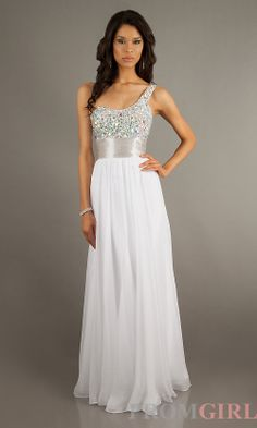 Prom Dresses, Celebrity Dresses, Sexy Evening Gowns - PromGirl: Embellished One Shoulder Formal Gown Beach Style Wedding Dresses, After Wedding Dress, A Line Prom Dresses, Cheap Prom Dresses, Bridesmaid Dresses, Sexy Cocktail Dress, Chiffon Dress Long, Prom Dress Shopping, Perfect Prom Dress