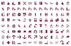 Airport Signage Berlin Brandenburg #signage #wayfinding #airport #icon #icondesign #icons #pictogram #symbol #guidesystem #iconography #iconset