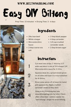 Easy recipe and directions for making healthy organic delicious biltong at home. How to make authentic South African tasting biltong and dry wors. South African Dishes, West African Food, South African Recipes, Jerky Recipes, Beef Recipes, Yummy Recipes, Cooking Recipes, Yummy Food, Beef Jerky