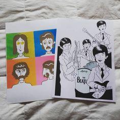 The Beatles School Project. #ink #illustration #illustradraw #illustrator #drawing #sketch #sketchbook #moleskine #comics #copicmultiliner #pentelpocketbrush #pentelbrush #penbrush #digitalpainting #wacom #texture #digitalart #digital #artist #wacom #apple #adobe #creativesuite #vector