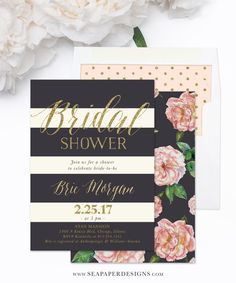 80 best bridal shower invitations images on pinterest in 2018 brie bridal shower invitation vintage peach and pink roses charcoal grey and ivory filmwisefo
