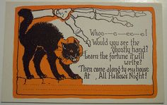 Vintage Halloween Postcard and invitation in one by riptheskull, via Flickr