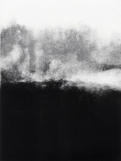 Tekla McInerney& monotypes are striking prints that are beautifully composed with a wonderful balance of high contrast, form and tone Black And White Painting, Black And White Abstract, White Art, Monochrom, Art Abstrait, Texture Art, Fine Art Photography, Printmaking, Design Art