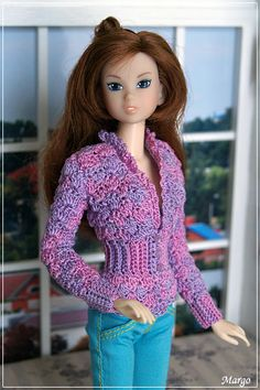 Рисунок ~ Momoko crochet top ~ this is so pretty!
