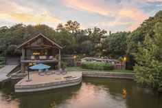 Nestled in a secluded cove on Eagle Mountain Lake, this six-bedroom home in North Texas has never before been offered for sale, and it comes with many of the current furnishings, down to the boats (with a handful of exceptions). It will be sold at auction without reserve on October 8, courtesy of Concierge Auctions.#lakehomes, #luxurylakehomes,#dreamhome