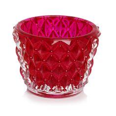 wilko pixel tealight holder pink